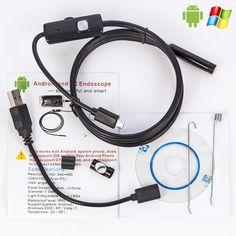 1 메터/2 메터/5 메터 5.5 미리메터 내시경 카메라 USB 안드로이드 내시경 방수 6 LED 내시경 검사 카메라 내시경 안드로이드 PC