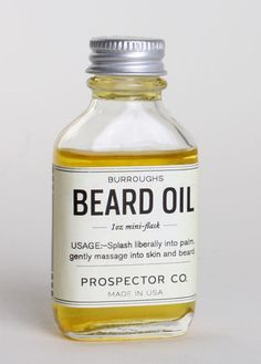 Burroughs Inspired by naturalist John Burroughs, the pristinely packaged Burroughs Beard Oil ($28) from Prospector Co. is a well-balanced, woodsy scent for men of any age