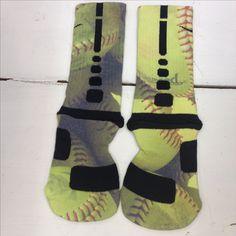 "Custom Nike Elite Socks ""Softball"" · Sock Insanity · Online Store Powered by Storenvy...WANT SO BADLY"
