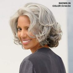 haircuts for gray hair | Cecile Lace Front Wig by Diahann Carroll