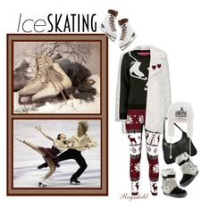"""Cute Ice Skating Style"" by ragnh-mjos ❤ liked on Polyvore featuring Topshop, Bearpaw and BCBGMAXAZRIA"