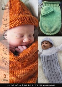 From head to toe cute and easy knit for newborn - DiaryofaCreativeFanatic