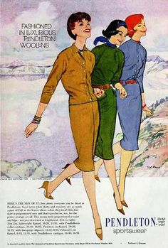 Pendleton, Sportswear, October 1959. #vintage #1950s #fashion #knits