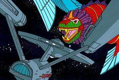 Star Trek: The Animated Series Enterprise cel Comic Art