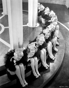 Chorus Girls in heart-shaped hats  Hooray For Love - (1935)