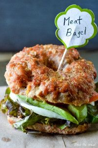 Meat Bagels are a unique and delicious #glutenfree #breakfast recipe that will surprise and delight all your friends and family.