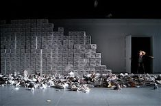 Richard III at the New School for Drama; Set by Wilson Chin