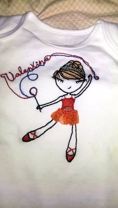 Personalized t-shirts baby, hand embroidered