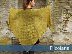Morgenfryd is a big shawl with a pattern inspired by the budding spring and light mornings, where a big shawl is a wonderful thing to wrap around your shoulders.