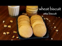 biscuit recipe, atta biscuits recipe, wheat biscuits recipe with step by step photo/video. baked sweet food/snack from wholemeal wheat flour or atta flour Atta Biscuits Recipe, Wheat Biscuits, Easy Biscuit Recipe, Indian Dessert Recipes, Sweets Recipes, Baking Recipes, Cake Recipes, Snack Recipes, Indian Snacks
