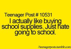 I love buying school supplies. I don't even go school anymore but still go crazy when they have new back to school stuff