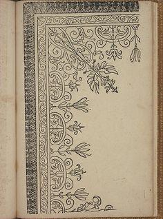 New Modelbüch (Page Andreas Bretschneider. Blackwork Embroidery, Embroidery Motifs, Islamic Art Pattern, Pattern Art, Stencil, Border Embroidery Designs, Illumination Art, Arabesque, Calligraphy Art