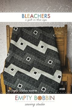 This clever and simple quilt is great for guest room home dec. Make this grayscale blanket for a boy's room.