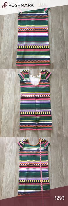 MONROW- Mini Dress! Perfect condition! Adorable! Has some stretch.  Is a size M, but fits more like a small.  See pics for measurements. Monrow Dresses Mini