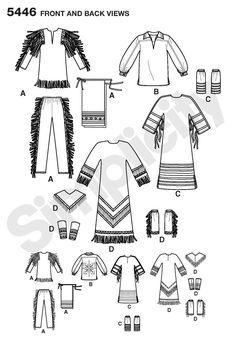 Native American dress: Simplicity : 5446