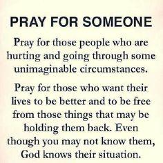 Pray for someone