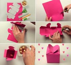 Homemade Valentine gifts - Cute wrapping ideas and small candy boxes バレンタイン Cute Valentines Day Gifts, Homemade Valentines, Be My Valentine, Cute Gifts, Valentine Images, Valentine Ideas, Homemade Gifts, Diy Gifts, Cute Box
