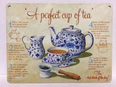 English Retro Vintage Afternoon Tea /& Cake Metal Sign Plaque Teapot Parlour Cafe