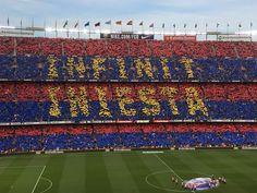 Infinit Iniesta FCB FC Barcelona Barça Iniesta plays his last game at the Camp Nou. 20.05.18 Barça legend magician