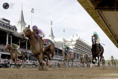 I'll Have Another, with jockey Mario Gutierrez in the irons (C), wins the Kentucky Derby ahead of Bodemeister (R) and Dullahan (L) at Churchill Downs in Louisville, Kentucky, May REUTERS/John Gress Kentucky Derby, Louisville Kentucky, Churchill Downs, Sports Pictures, Mario, Horses, Irons, Animals, Animales