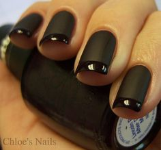 Chloe's Nails: Back to Basics.... OPI Lincoln Park After Dark  Matte with Seche Vite Tips
