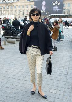 Ines de la Fressange - Giambattista Valli Fashion Show Arrivals