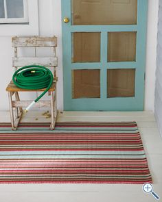 So much fun - and it'll tie in nicely with our blue door! Indoor-Outdoor Rug Collection by Dash and Albert