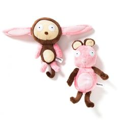 MONKEY + BUNNY - Changeable parts. Hilariously fun.
