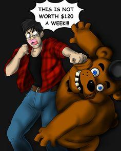 Victory Night at Freddy's by Fancy-Indigo.deviantart.com on @deviantART  Markiplier!!