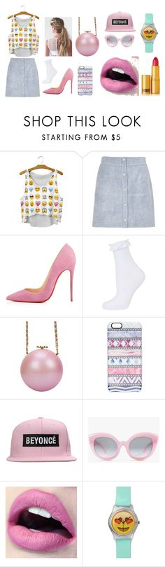 """""""Emojii <3"""" by hien-anhhs on Polyvore featuring mode, River Island, Topshop, Casetify, Crap et Lipstick Queen"""