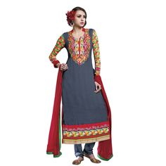 Buy Lilots Grey Cotton Dress Material by Lilots, on Paytm, Price: Rs.2335?utm_medium=pintrest