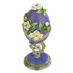 Design Toscano Spring Bouquet Collection Faberge Style Enameled Egg &…