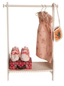 Maileg cream metal clothes rack