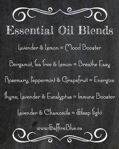 Essential Oil Blends