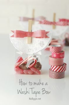 How to make a washi tape bow | NoBiggie.net