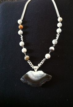 A piece I found at the Denver show and made a necklace.