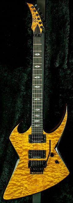 Bernie Rico Jr Guitars USA Hyde 6 FR QM Electric Guitar - Trans Honey