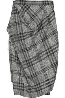 Vivienne Westwood Anglomania Philosophy Wool Plaid Skirt