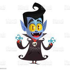 Cute cartoon vampire smiling. Vector illustration clipart - Векторная графика Граф Дракула роялти-фри Vampire Cartoon, Cute Cartoon, Disney Characters, Fictional Characters, Clip Art, Illustration, Illustrations, Fantasy Characters, Cute Comics