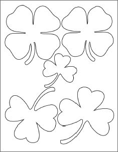 Shamrock templates for a paper wreath