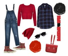 """""""Comfy Tartan"""" by tererock ❤ liked on Polyvore featuring Equipment, MANGO, Converse, Forever 21, The Cambridge Satchel Company and Chicnova Fashion"""