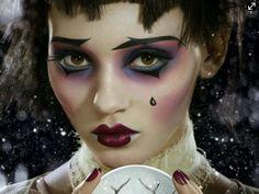 Love this dramatic #noir #makeup look by #Illamasqua