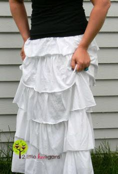 Tutorial for a ruffled jersey maxi skirt