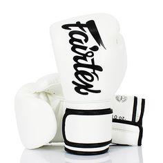 BGV14 Fairtex White Lightweight Microfibre Boxing Gloves