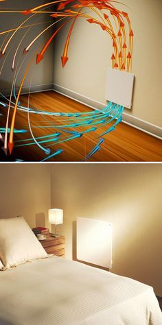 Here's a great solution for the bedroom that's just never warm enough in the winter. This wall panel convection heater operates silently and safely as there are no moving parts, no gas and no exposed heating elements. You can even paint it to match the room decor. Helps save money on heating, too.