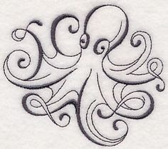 Inky Octopus design (M6601) from www.Emblibrary.com