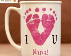 Mothers Day Crafts For Kids Discover Mothers Day Fathers Day. I Love You Footprint Mug Mothers Day Fathers Day. I Love You Footprint Mug Mothers Day Crafts For Kids, Fathers Day Crafts, First Mothers Day Gifts, Fathers Day Mugs, Babies First Christmas, Christmas Baby, Christmas Ideas, Baby Crafts, Kids Crafts