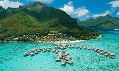 Hilton Moorea Lagoon Resort & Spa, Vue aérienne