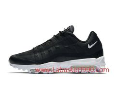 the latest 4f9b4 010c5 Nike Air Max 95 Ultra Essential 857910 006 Chaussures Nike Prix Pas Cher  Pour Homme Noir Blanc