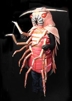 Giant isopod creepy Halloween costume with wiggling legs! By costumiers Tentacle Studio.